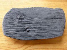 Mattschwarze Platte Verwittertes Holz Serie von bothendsburning