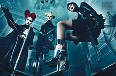 Title: A Point of View Magazine: Vogue Italia September 2011 Models: Crystal Renn, Jamie Bochert, Catherine McNeil, Lydia Hearst, Aymeline Valade Photographer: Steven Klein Stylist: Patti Wilson