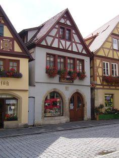 Rothenburg ob de Tauer: casas típicas.