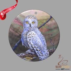 JEWELRY NECKLACE HAND PAINTED OWL SHELL PENDANT ZP30 01095 #ZL #PENDANT
