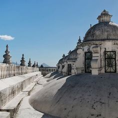 "The rooftop of the León Cathedral - officially ""The Real and Renowned Basilica Cathedral of the Assumption of the Blessed Virgin Mary""... I'll stick with León Cathedral."