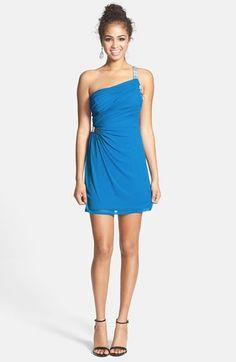 Hailey Logan Embellished Ruched One-Shoulder Dress (Juniors) available at #Nordstrom