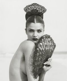 Helena Christensen photographed by Herb Ritts in 1996