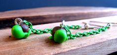 Polymer Turtle Earrings Kawaii Turtle Earrings by YoungLad