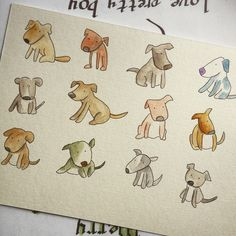 Dogs dogs dogs  dwgdaily watercolor