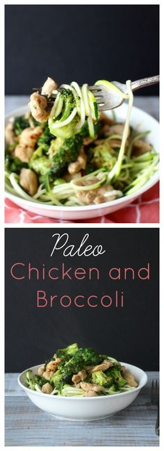 Paleo Chicken and Broccoli- A great weeknight meal that is Whole30, gluten free, and low carb.