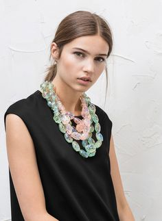 Two-tone piece necklace - See all - ACCESSORIES - Uterqüe United Kingdom