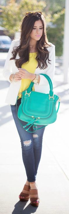 Pop Colors Accent Streetstyle by The Sweetest Thing