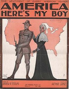 The Selective Services Act required men between the ages of twenty-one and thirty to register to sign up to be drafted. This is propaganda that the U.S. put out which shows a respectable American woman and her son who is going to war.