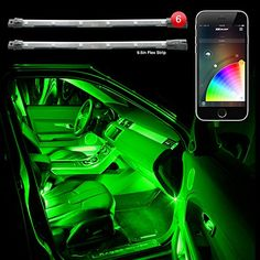 "6pc 10"" 2nd Gen Flexible Strip Car Interior Grill XKchrome App Control Under Car LED Accent Light Kit Millions of Colors Patterns Dual Zone Music Sync Smart Brake Feature - http://www.caraccessoriesonlinemarket.com/6pc-10-2nd-gen-flexible-strip-car-interior-grill-xkchrome-app-control-under-car-led-accent-light-kit-millions-of-colors-patterns-dual-zone-music-sync-smart-brake-feature/  #Accent, #Brake, #Colors, #Control, #Dual, #Feature, #Flexible, #Grill, #Interior, #Light,"