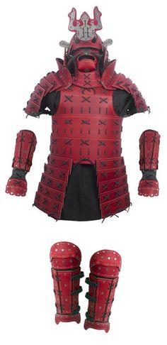 Samurai Leather Armor - Full Set - Red  sc 1 st  Pinterest & Samurai Armor with Pauldrons | Pinterest | Samurai armor Samurai ...