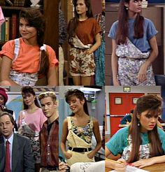Kelly's saved by the bell overalls galore.