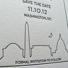 Save the Dates www.etsy.com/listing/111350759/washington-dc-save-the-dates