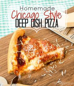 #Homemade Chicago Style Deep Dish Pizza she lists the recipes forEVERYTHING. The dough Italian sausage and pizza sauce! The best Chicagostyle pizza outside of the city!