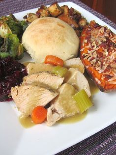 Complete Thanksgviing Dinner Menu - for Two