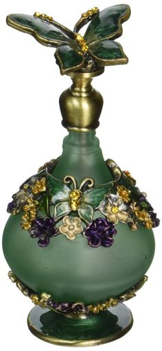 Amazon.com: H&D Retro Mini Green Butterfly Perfume Bottle 24ml: Home & Kitchen
