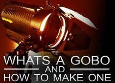 "What's a Lighting ""Gobo"" & How to Make One in 5 Simple Steps  