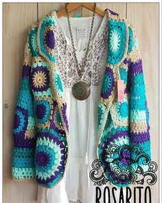 ideas crochet granny square scarf pattern diy You are in the right place about Knitting designs Here we offer you the most beautiful pictures. Crochet Bolero, Crochet Cardigan Pattern, Crochet Tunic, Crochet Jacket, Freeform Crochet, Crochet Poncho, Crochet Granny, Crochet Clothes, Crochet Patterns