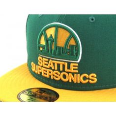 Seattle Supersonics 59Fifty New Era Fitted Hats (TEAM COLORS) New Era  Fitted 25b9fe430be4