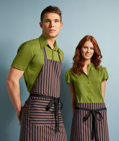 Simon Jersey striped aprons from £8.09 // Waiter apron, waitress apron, bar apron, hospitality uniform, waiting uniform, bar uniform, perfect for chefs, kitchen staff, catering, retail, cafes, coffee shops, hospitality, hotels, hoteliers etc.