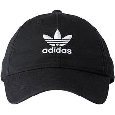 Adidas Women's Originals Relaxed Strapback Cap (78 PEN) ❤ liked on Polyvore featuring accessories, hats, black, cap hats, 6 panel hat, adidas, six panel hat and adidas cap