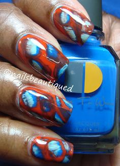 Acid Wash Method Nail Design