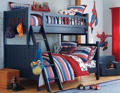I love the Pottery Barn Kids Spider-Man™ Bedroom on potterybarnkids.com  for Tyler and Nathans future bedroom!