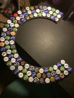 beer bottle cap letters - Google Search