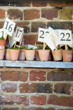 table numbers, petersham cafe