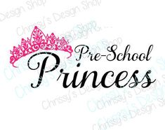 Oh yes, make that little preschool princess look amazing in a special shirt for her preschool year. This SVG can be used for vinyl crafting, stenciling or even a scrapbook. Use different colors or even glitter to add the POP just for her.  Looking for this as a finished product? Please go to http://www.chrissysdesignshopcd.etsy.com, and put in a custom request there. Thank you.   PLEASE REMEMBER: These files are created in Adobe Illustrator and Silhouette. They may not work correctly in…