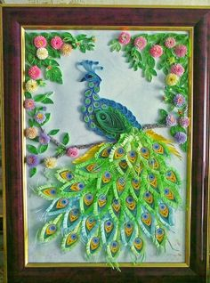 Quilled Peacock Rainbow