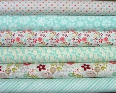 Fat Quarter Bundle of Aspen Frost by by SistersandQuilters on Etsy, $16.50