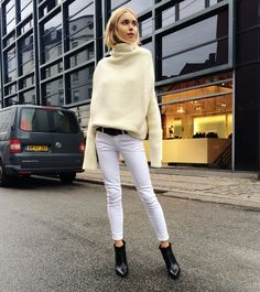 Knit - Acne Studios, Jeans from Acne Studios, Boots from Gianvito Rossi - Look De Pernille