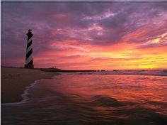 ♜Cape Hatteras Lighthouse, Lighthouse Road, Buxton, North Carolina, USA