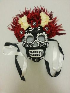Day of the Dead Mask/ Day of the Dead Headdress/ by WigsofWonder