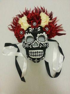 Día de la máscara muerta / día de tocado muerto máscara de día de los Muertos Halloween Máscara esqueleto Máscara máscara de calavera de azúcar / Sugar Skull