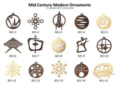 Image result for mid century numbers holiday