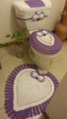 Diy Crochet Owl Toilet Tank Seat Bathroom Set Cover Free
