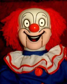 "HAUNTED Ventriloquist Doll ""EYES FOLLOW YOU"" Creepy Clown Dummy Puppet prop"