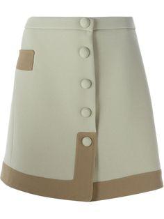 Carven falda de corte tipo A con botones