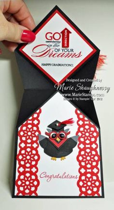 Graduation Cap Punch Art by Card Shark - Cards and Paper Crafts at Splitcoaststampers