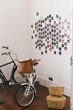 Living Room Decoration and Design Ideas - Ribbons & Stars Polaroid Wand, Photo Polaroid, Polaroid Pictures Display, Polaroid Display, Hanging Polaroids, Hanging Photos, Sala Grunge, My New Room, My Room