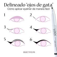 ¿Te animas a pintarte los ojos con el look ojos de gata?