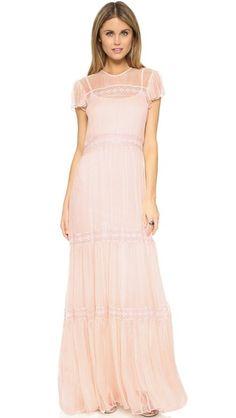 Needle & Thread Вечернее платье из шифона и кружева