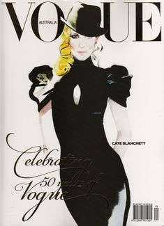 CATE BLANCHETT | illustration DAVID DOWNTON for Vogue Australia Sept 2009 – its 50th birthday