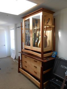 Guitar Display Case Or Cabinet That Is Humidity Controlled