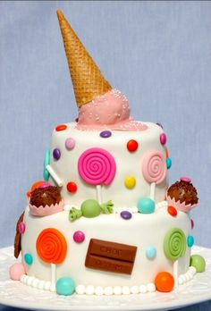 sweets and ice crean cake