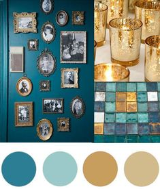 Idée décoration Salle de bain  Today's Christmas colour palette of teal and gold is somewhat of a modern ta