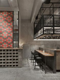 © Frank Herfort #tiling #concrete #bar