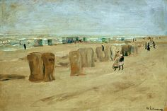 Liebermann / Beach in Noordwijk / 1908 #Max #Liebermann #weewado #max #liebermann #german #art #free #time